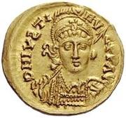 1 solidus Athalaric / Au nom de Justin I, 518-527 (étoile à droite) – avers