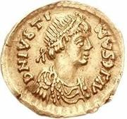 1 tremissis Anonyme / Au nom de Justin I, 518-527 (Rome) – avers