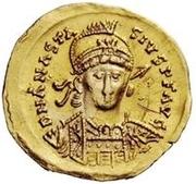 1 solidus Théodoric / Au nom d'Anastase I, 491-518 (inscription revers se terminant par christogramme) – avers
