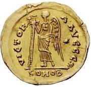 1 solidus Théodoric / Au nom d'Anastase I, 491-518 (inscription revers se terminant par christogramme) – revers