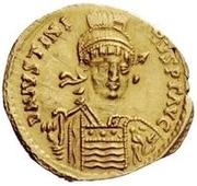 1 solidus Vitigès / Au nom de Justinien I, 527-565 (Ravenne) – avers