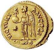 1 solidus Vitigès / Au nom de Justinien I, 527-565 (Ravenne) – revers