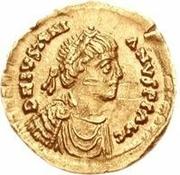 1 tremissis Anonyme / Au nom de Justinien I, 527-565 – avers
