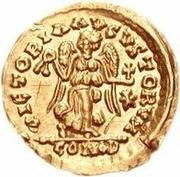 1 tremissis Anonyme / Au nom de Justinien I, 527-565 – revers