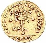 1 tremissis Théodoric / Au nom d'Anastase I, 491-518 (deux étoiles; Rome) – revers