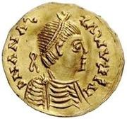 1 tremissis Baduila / Au nom d'Anastase I, 491-518 (Ticinum) – avers