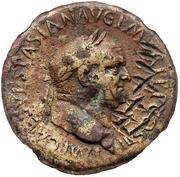 83 nummi (contremarque; sesterce de Vespasien, 69-79) – avers