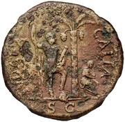 83 nummi (contremarque; sesterce de Vespasien, 69-79) – revers