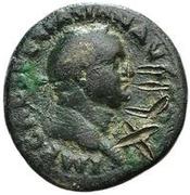42 nummi (contremarque; as de Vespasien, 69-79) – avers