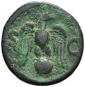 42 nummi (contremarque; as de Vespasien, 69-79) – revers