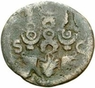 42 nummi (contremarque; as de Galba, 68-69; aigle) – revers