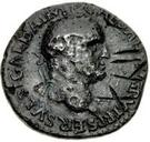 42 nummi (contremarque; as de Galba, 68-69; Victoire ailée) – avers