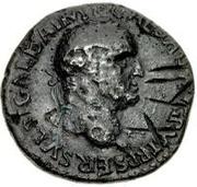42 nummi (contremarque; as de Galba, 68-69; Victoire ailée) -  avers