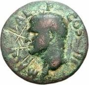 42 nummi (contremarque; as de Agrippe, -45 à -12, honoré par Caligula, 37-41) – avers