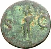 42 nummi (contremarque; as de Agrippe, -45 à -12, honoré par Caligula, 37-41) – revers