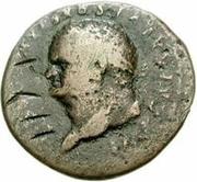 42 nummi (contremarque; as de Titus, 79-81) – avers