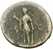 42 nummi (contremarque; as de Titus, 79-81) – revers