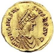1 semissis Théodoric / Au nom d'Anastase I, 491-518 (Rome) – avers