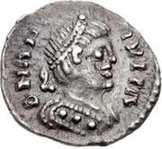 ¼ silique Teias / Au nom d'Anastase I, 491-518 (Ticinum) – avers