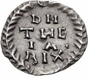 ¼ silique Teias / Au nom d'Anastase I, 491-518 (Ticinum) – revers