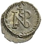 ¼ silique Hildebad / Au nom de Justinien I, 527-565 (Rome) – revers