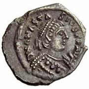 ¼ silique Baduila / Au nom d'Anastase I, 491-518 (Ticinum) – avers