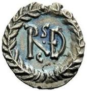 ¼ silique Amalasonte / Au nom de Justinien I, 527-565 & Théodoric, 493-526 (Ravenne) – revers