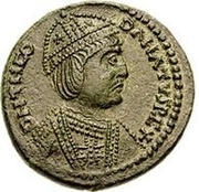 1 follis Théodat (Rome) – avers