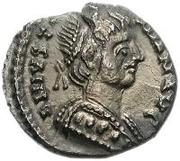 ½ silique Théodat / Au nom de Justinien I, 527-565 (Ravenne) – avers