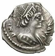 ¼ silique Théodat / Au nom de Justinien I, 527-565 (Ravenne) – avers