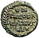10 nummi Théodat (Rome) – revers