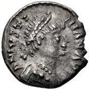 ¼ silique Athalaric / Au nom de Justinien I, 527-565 (Ravenne) – avers