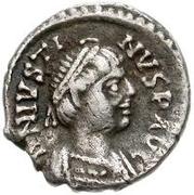 ½ silique Athalaric / Au nom de Justin I, 518-527 (Ravenne) – avers