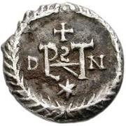½ silique Athalaric / Au nom de Justin I, 518-527 (Ravenne) – revers