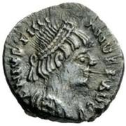 ½ silique Athalaric / Au nom de Justinien I, 527-565 (Rome) – avers