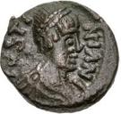 2½ nummi Athalaric / Au nom de Justinien I, 527-565 (Rome) – avers