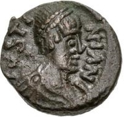 2½ Nummi - Athalaric / In the name of Justinian I, 527-565 (Rome) – avers