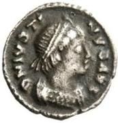 ¼ silique Théodoric / Au nom de Justin I, 518-526 (Ravenne) – avers