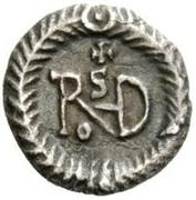¼ silique Théodoric / Au nom de Justin I, 518-526 (Ravenne) – revers