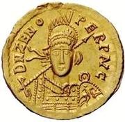1 solidus Théodoric / Au nom de Zénon, 576-491 (Mediolanum/Milan) – avers
