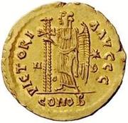 1 solidus Théodoric / Au nom de Zénon, 576-491 (Mediolanum/Milan) – revers