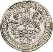 1 thaler Karl Wolfgang, Ludwig XV et Martin – avers