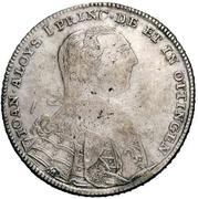 ⅔ Thaler - Johann Aloys I. (Gittergulden) – avers