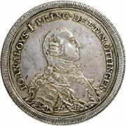 1 Thaler - Johann Aloys I – avers
