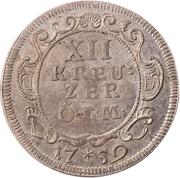 12 Kreuzer - Johann Aloys I. – revers