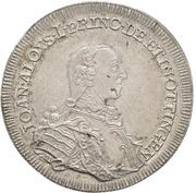 ½ Thaler - Johann Aloys I. – avers