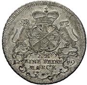 ½ Thaler - Johann Aloys I. (Sebastiansgulden) – avers