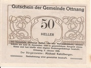 50 Heller (Ottnang) -  avers