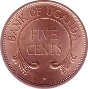 5 cents (bronze) – revers