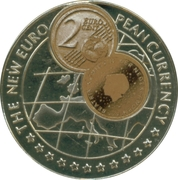 1000 Shillings / 2 Euro cent Netherlands -  revers